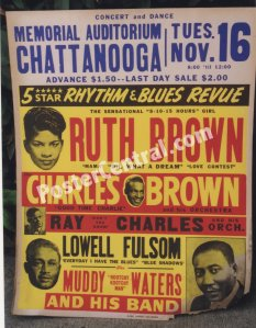 Muddy Waters 1954 Chattanooga poster